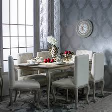 teak wood dining table price in bangalore. lyon 6 seater dining table set (natural finish, distressed) teak wood price in bangalore