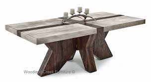 Rustic Modern Round Up Reclaimed Railroad Tie Furniture  Rustic Modern Rustic Dining Furniture