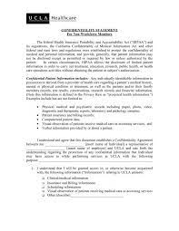 confidentiality statement office of