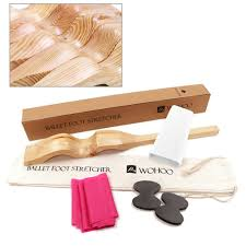 wooden ballet foot stretch stretcher arch enhancer elastic band gymnastics