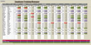 Excel Spreadsheet Training Employee Record Tracking Template Sheet