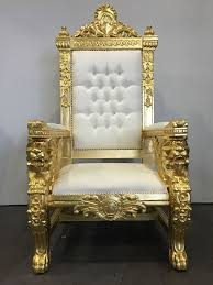 white gold hollywood regency large lion head king chair gothic queen throne handmade hollywoodregency