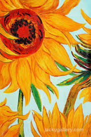 sunflowers detail van gogh painting