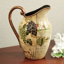 Decorative Pitchers Villas of Tuscany Ceramic Decorative Pitcher Vase 5