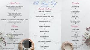 french menu template white french cafe menu template postermywall