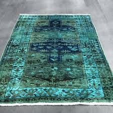 Green overdyed rug Interior Design Blue Overdyed Blue Rug Buy Northwest Geometric Military Green Teal Blue Rug By West Of Rugs On Amazoncom Overdyed Blue Rug Buy Northwest Geometric Military Green Teal Blue