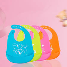 Baby Bibs <b>Cartoon Prints Kids Silicon</b> Bib Children's Summer ...