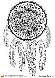 Coloriage D Un Superbe Mandala Avec Des Motifs Tribaux D Indien D