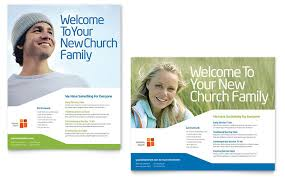 Church Welcome Brochure Samples Church Youth Ministry Poster Template Design