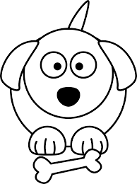 dog line drawing clipart best lemmling cartoon black white art vector royalty free