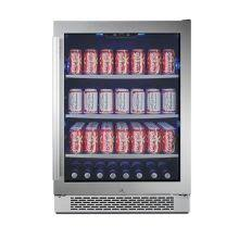 undercounter beverage cooler. 24 Inch Wide 152 Can Energy Efficient Beverage Center With LED Lighting, Double Pane Glass Undercounter Cooler