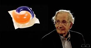 noam chomsky accepts tide pod challenge the tilted glass grade noam chomsky accepts tide pod challenge