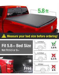 Amazon.com: Premium Tri-Fold Truck Bed Tonneau Cover 2009-2018 ...