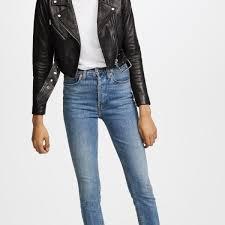abbie core leather moto jacket