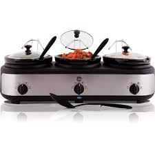 similiar walmart ge slow cooker keywords ge 3 crock slow electric cooker buffet walmart com