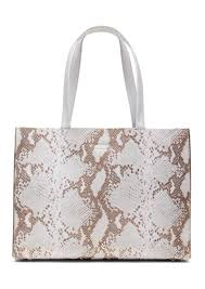 banana republic portfolio structured snake effect leather tote