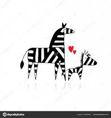 Disegni Mamma E Bimbo Zebra Famiglia Madre E Bambino Schizzo