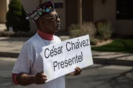 dolores huerta headlines twentieth annual cesar chavez day   charles powell represented veterans for peace in the