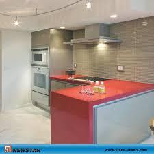 china newstar red quartz prefab kitchen countertop china quartz kitchen top kitchen work table