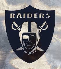 raiders metal wall art