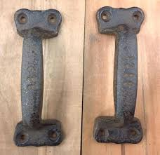cast iron antique style rustic barn gate pull shed door handles set of 4 sliding