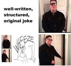 door bouncer meme written joke