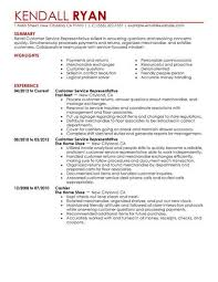 Resume Samples For Customer Service Representative Best Retail Customer Service Representative Resume Example From