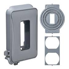 covers electrical boxes conduit fittings 1 gang horizontal or vertical mount weatherproof expandable low profile while in use cover