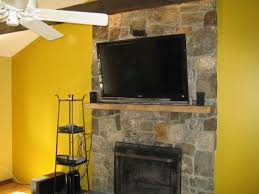 img 3774 above fireplace tv mount over stone ideas 16