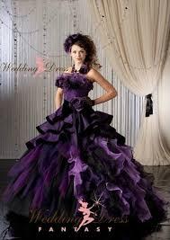 purple bridal gown