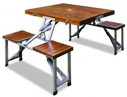 new wooden outdoor table garden table and bench folding camping picnic vintage