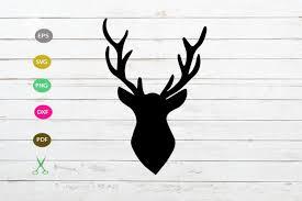 The vector file '' is a eps file formate. Deer Head Svg Cut File Deer Head Silhouette Farm House Svg 477059 Svgs Design Bundles