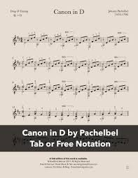 He composed a large body of sacred and secular music, and his contributions to the development of the chorale prelude and fugue have earned him a place among the most. Canon In D By Pachelbel For Guitar Free Pdf Or Tab Werner Guitar Editions