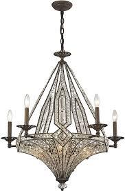 elk 11785 5 5 jausten antique bronze chandelier light loading zoom