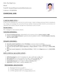 Objective For Resume For Students Extraordinary Resume For Nursery Teachers Sample