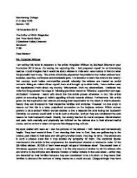 Example Of Response Essays I Am Writing This Letter In Response To The Article
