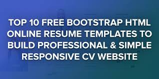 Free Html Resume Template Adorable 48 Free Bootstrap HTML Resume Templates For Personal CV Website 48
