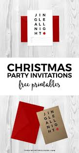 printable christmas invitations to rock your holiday party these printable christmas invitations to set the tone for a modern and simple holiday