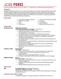 Rad Tech Resume Template