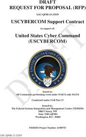 Draft Request For Proposal Rfp Uscybercom Support Contract