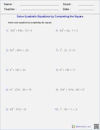 algebra 2 worksheets factoring quadratic expressions algebra 2 solving quadratic equations by factoring worksheet answers