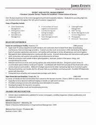 Resume For Hospitality New Customer Service Manager Resume Sample Fresh Resume Sample Customer