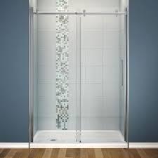 maax halo 30 in x 60 81 3 4 frameless sliding shower kit