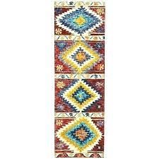 striped rug runner 2 ft 3 in x 7 6 multi coloured blue and white striped rug runner black and white