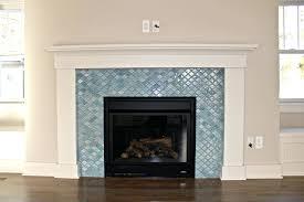 glass mosaic tile fireplace surround royal oak photos