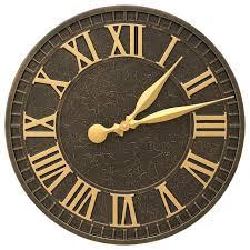 outdoor wall clock indoor outdoor wall clock large outdoor wall clocks with temperature