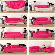 this sofa cover only can be used for l shaped sofa that connected with 2 parts one cover for one part the two covers are the same color
