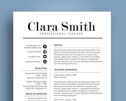 Modern Elegant Font For Resume Elegant Modern Teacher Resume Template For Ms Powerpoint Nr01
