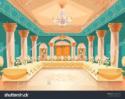 Vektor Saal Für Bankett Hochzeit Inneneinrichtung Aus