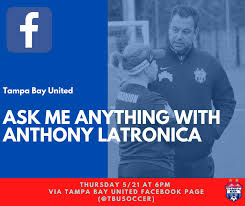 Our Sporting Director, Anthony... - Tampa Bay United Rowdies Soccer Club |  Facebook